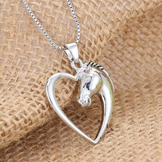 Heart Horse Pendant