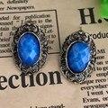 C172 Новая мода Винтаж антикварные резные цветок овальный камень серьги гвоздики для женщин Jewelry рождественские подарки дешевые brincos - фото
