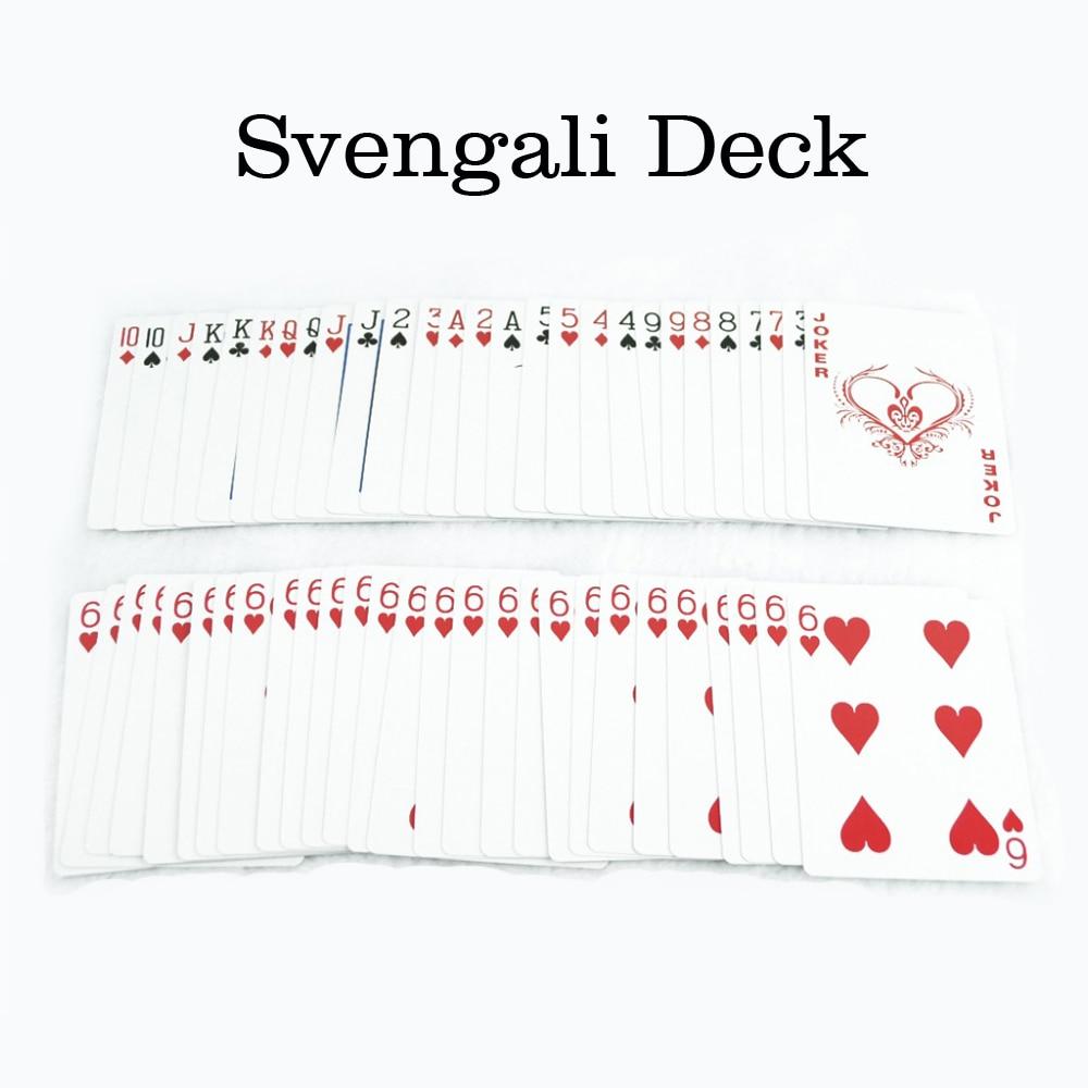 Svengali Deck Magic Gimmick Card Magic Trick for Magician Close Up Street Magic Prop Free Shipping