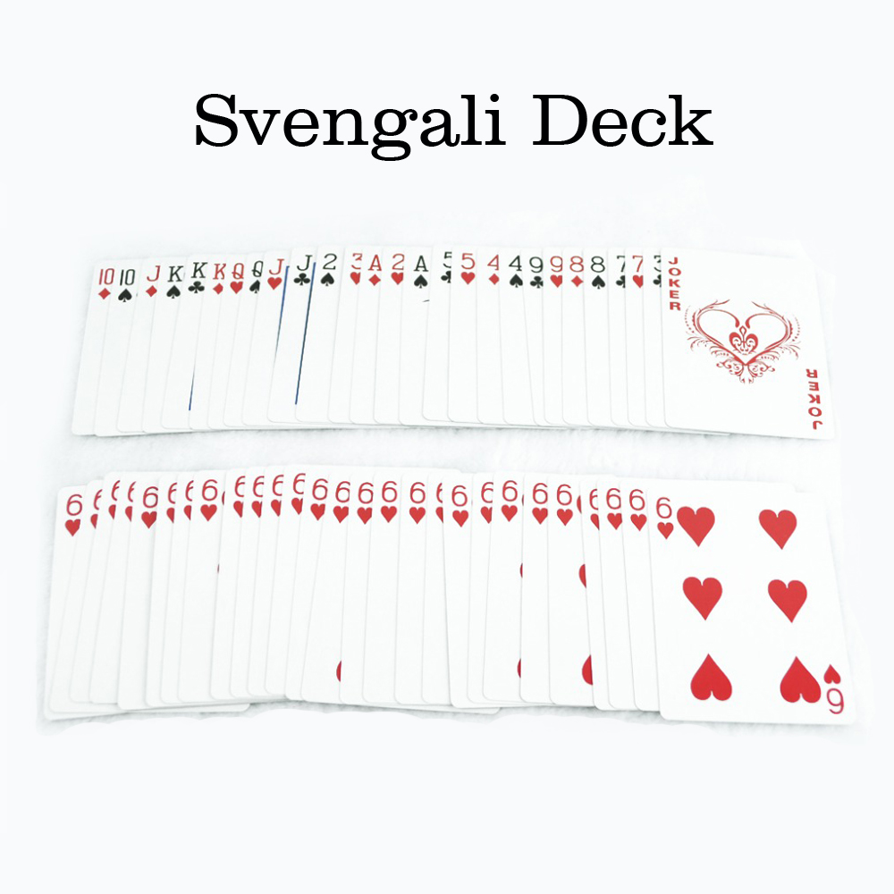Svengali Deck Magic Gimmick Card Magic Tricks Trollkarl Trick Magic Cards Stäng upp Street Magic Prop Free Drop Shipping