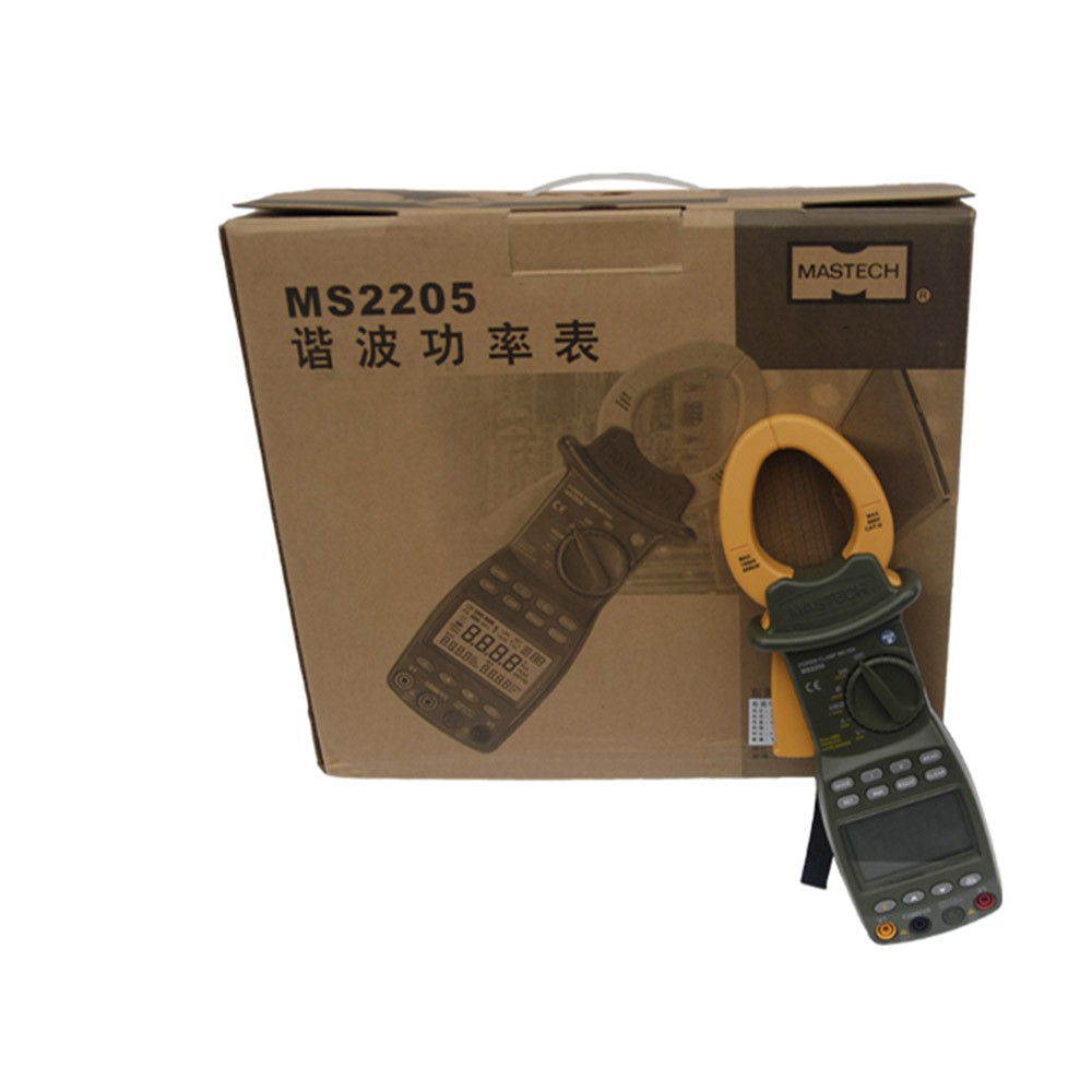 MS2205 3-phase Harmonic Power Clamp Meter Intelligent Digital AC RMS Active Power Factor Passive Frequency (2)