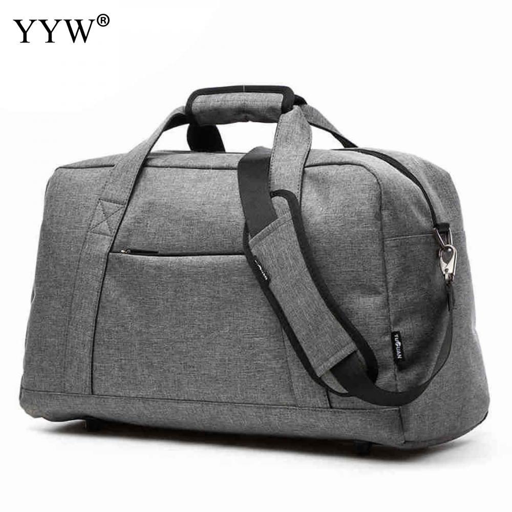 Tote Bag Handbags Crossbody-Bags Gray Zipper Black Male Nylon Soft Unisex Casual