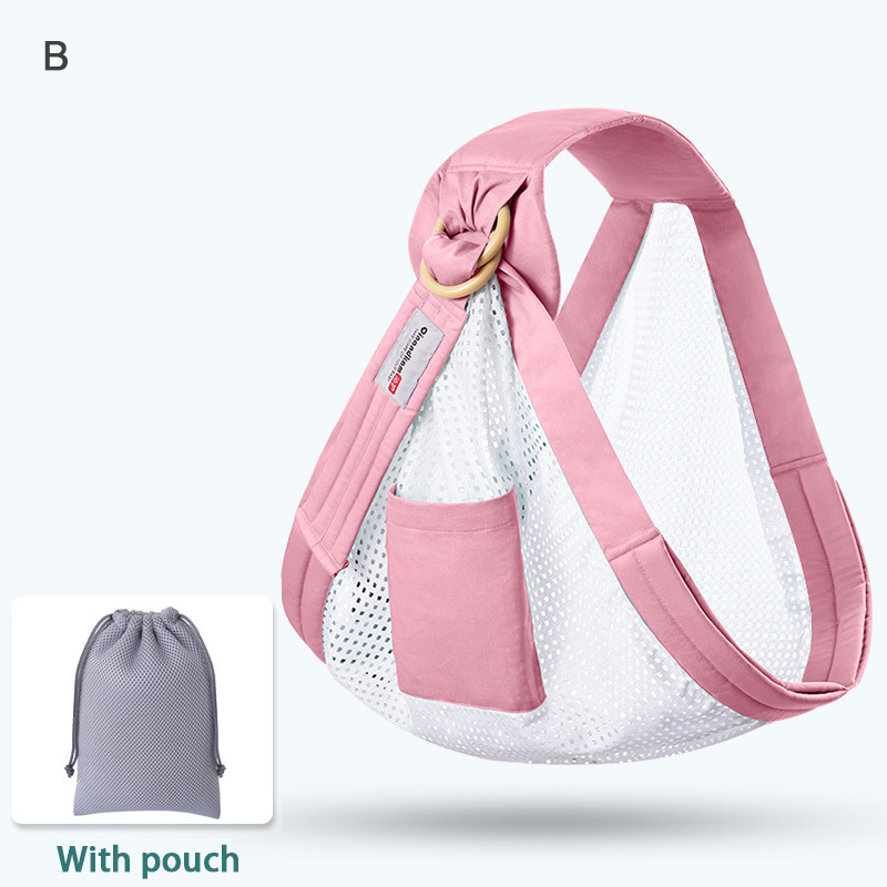 Baby Wrap Carrier Newborn Sling Dual Use Infant  Nursing Cover Carrier Mesh Fabric Breastfeeding  Carriers Up to 130 lbs (0-36M)