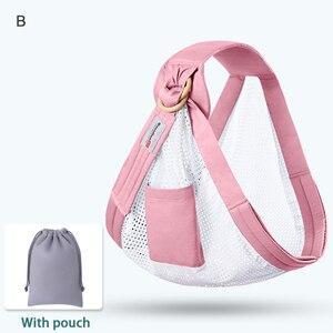 Image 3 - Nosidełko dla dzieci noworodek chusta podwójnego zastosowania niemowlę chusta do karmienia przewoźnik siateczkowa tkanina nosidełka do 130 funtów (0 36 M)