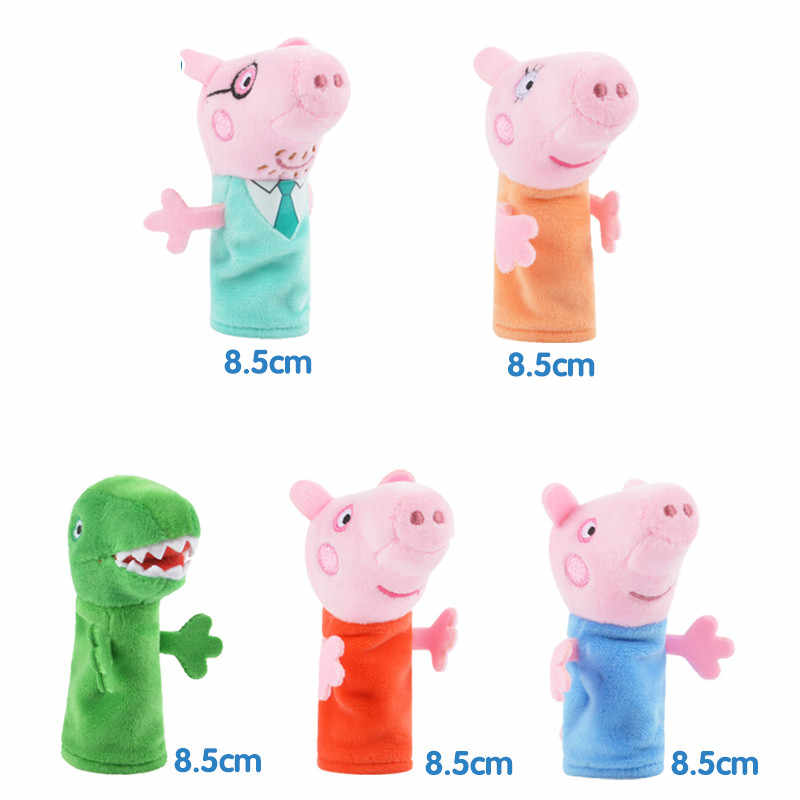 5 pçs/set Dedilhado Bichos de pelúcia Peppa Pig George & Plush Brinquedos Para As Crianças Meninas da Festa de Aniversário Do Bebê Brinquedos de Pelúcia Animais presentes