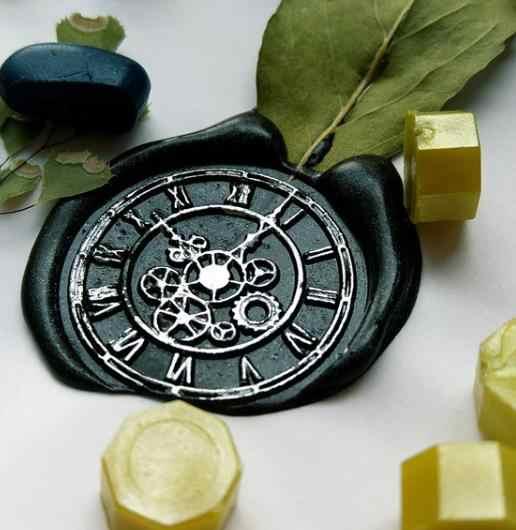 นาฬิกาเกียร์ Wax Seal แสตมป์,Mystery ซีล Wax Seal/ของขวัญ Wax Stamp สำหรับคนรักสัตว์เลี้ยง, เชิญงานแต่งงาน seal