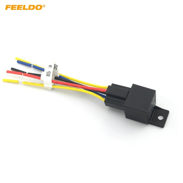 FEELDO Car Automotive JD1914 5 pin 12VDC 40 30A Constant Closed Relay Controller With Wire Harness_640x640 feeldo car automotive jd1914 5 pin 12vdc 40 30a constant closed