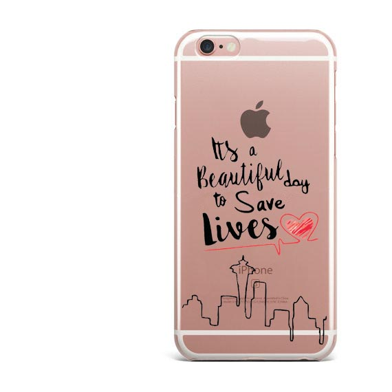 Grey's Anatomy Beautiful Day To Save Lives Clear Soft Phone Case for iPhone 7 7 Plus 6 6S Plus 5 5S SE X XR XS MAX 8 8Plus