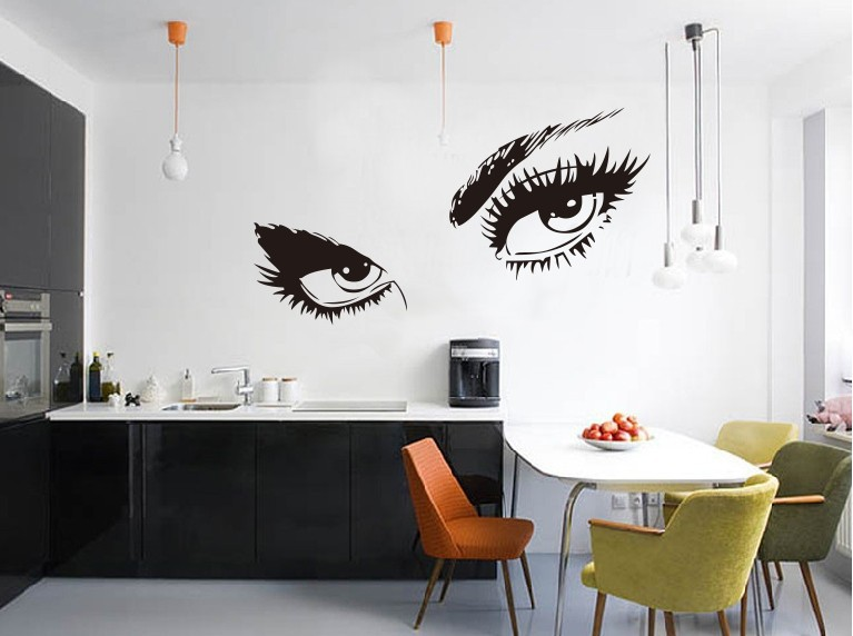 Y Eyes Wall Stickers For Bedroom Living Room Background Home Decor Removable Waterproof Mural Drawings Decals In From Garden On
