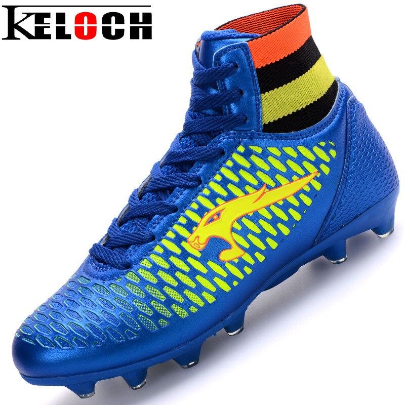 2016 Mens Football Boots Cleats Long Spikes Soccer Boots Outdoor Training Soccer Shoes Chuteira Futebol Sport Size34-44