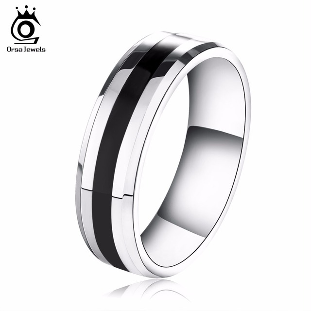 ORSA JEWELS New Arrival 316L Stainless Steel Couple Ring Fashion Design Ring for