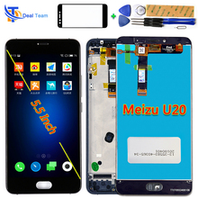 Deal Team LCD display 5.5 inch For Meizu U20 Touch Screen Digitizer Assembly 1920*1080 Frame with Free Tempered Glass and Tools