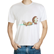 DY 172 anime 3D shirt men quality 100 cotton students tops whtie t shirt men hedgehog