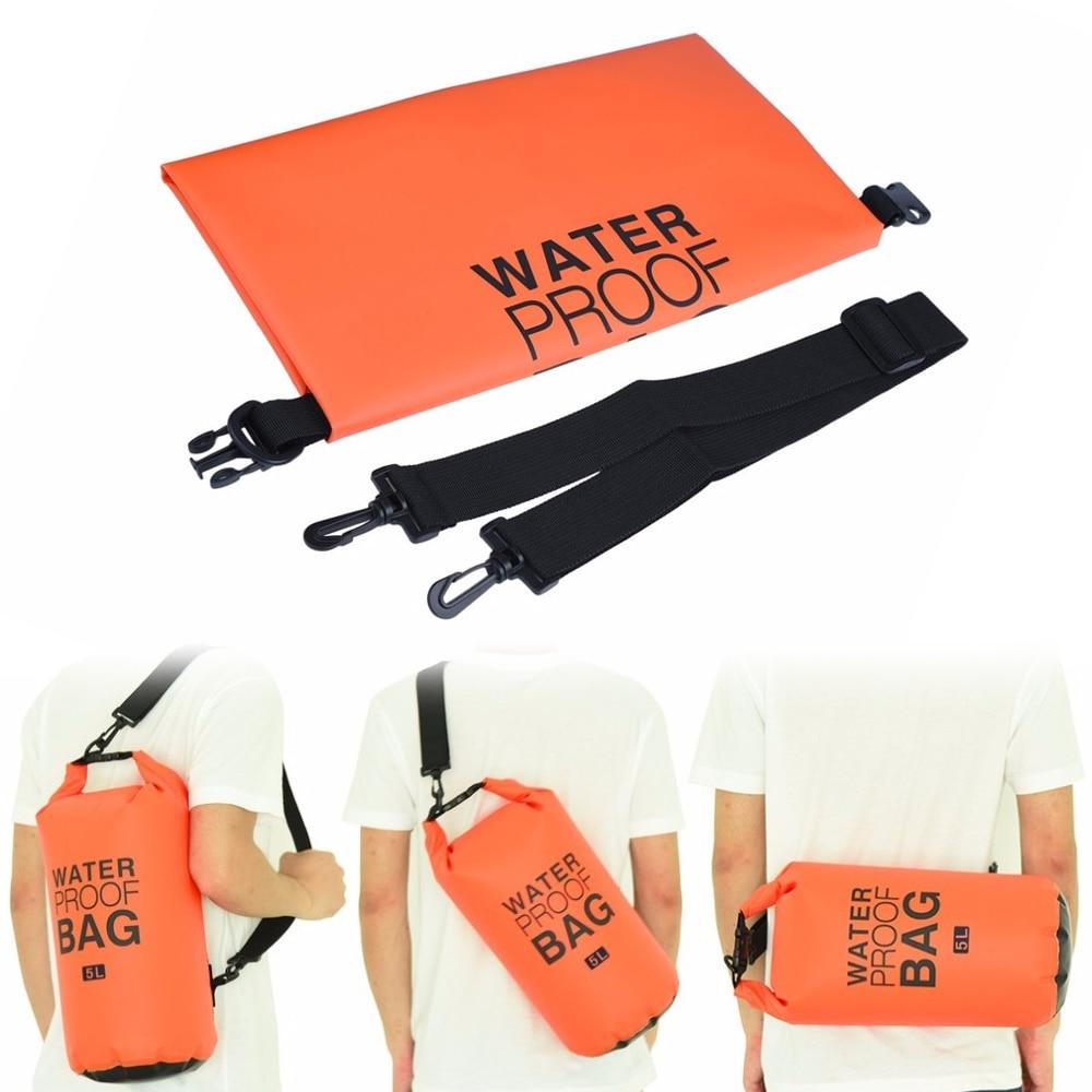 2/5/10/15/20l Outdoor Foldable Waterproof Travel Bags Drift Organizer Bucket Bag Dry Bag For Drifting Beach Sea Single Shoulder Sports & Entertainment