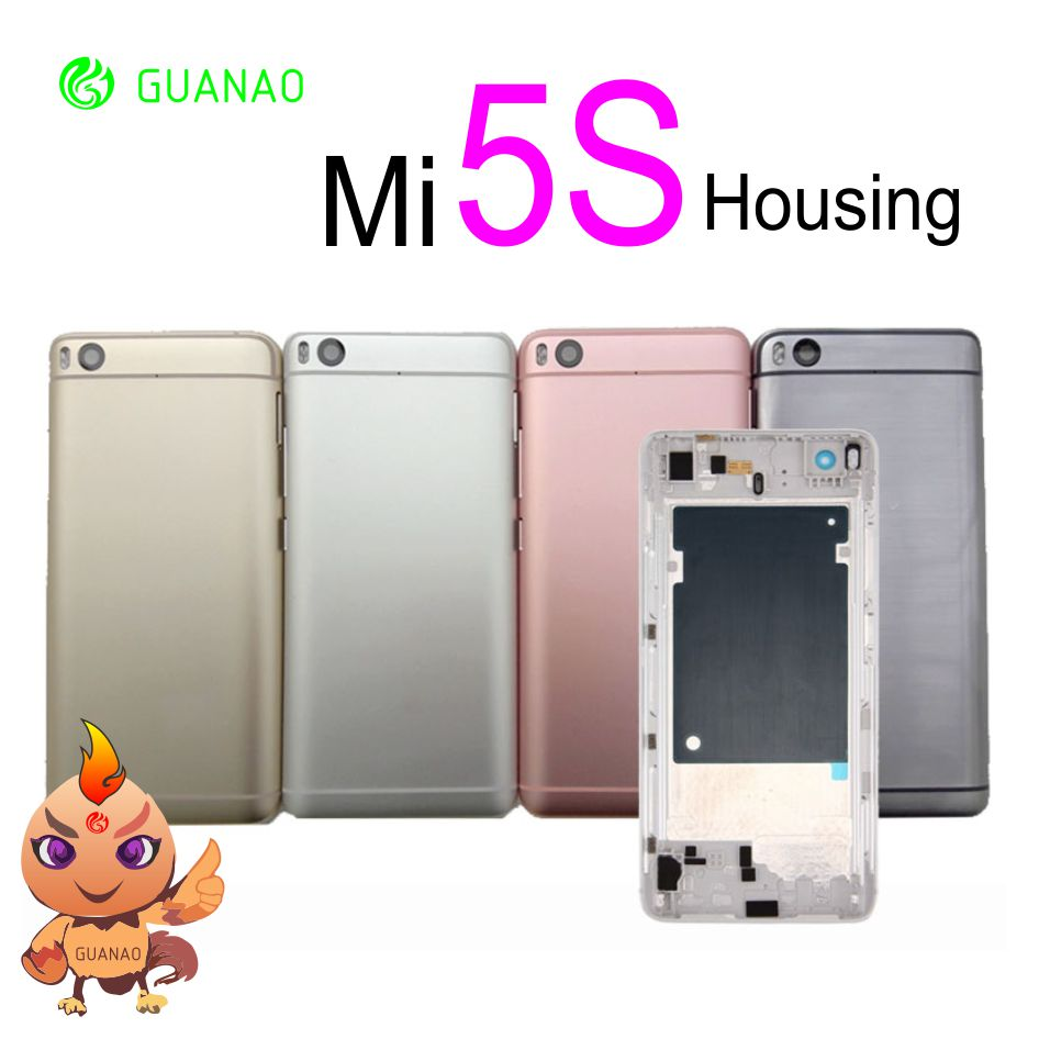 For <font><b>Xiaomi</b></font> <font><b>Mi5S</b></font> Mi 5S <font><b>Battery</b></font> <font><b>Cover</b></font> Rear Door Back Housing Case For <font><b>Xiaomi</b></font> <font><b>Mi5s</b></font> Mi 5S <font><b>Battery</b></font> <font><b>Cover</b></font> Middle Chassis Replacement image
