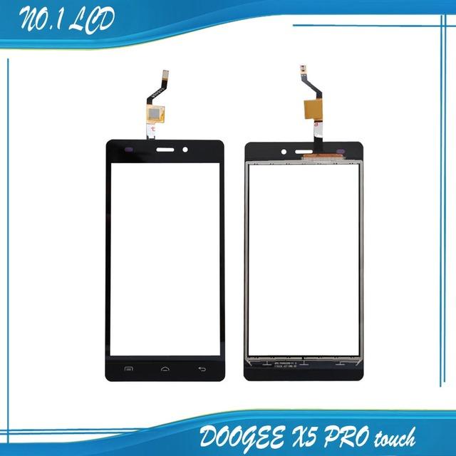 Doogee x5 pro 100% original novo reparação substituição do painel de vidro digitador da tela de toque para o telefone móvel