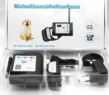Wireless 300m  Fence 882 Dog Training Collar  Shock Vibration Rainproof Rechargeable Anti Bark Device for 1 & 2