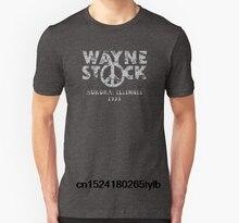 Moda Cool hombres camiseta mujeres camiseta Waynes mundo Waynestock  Festival 1993 personalizada impresa camiseta(China 9d6584d70dc