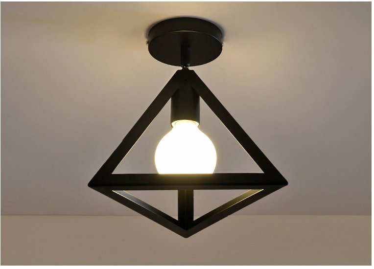 E27 metal industrial style black iron hanging ceiling lamps living e27 metal industrial style black iron hanging ceiling lamps living room lights led ceiling light modern brief in ceiling lights from lights lighting on aloadofball Image collections