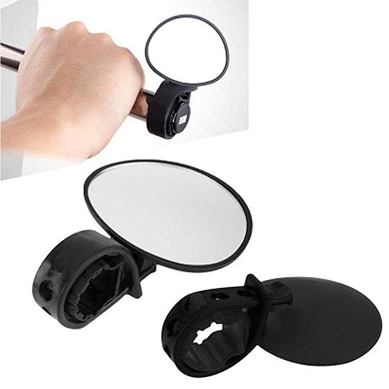 360 Derajat Memutar Sepeda Bersepeda MTB Cermin Stang Wide Angle Rear View Spion Sepeda Aksesoris title=