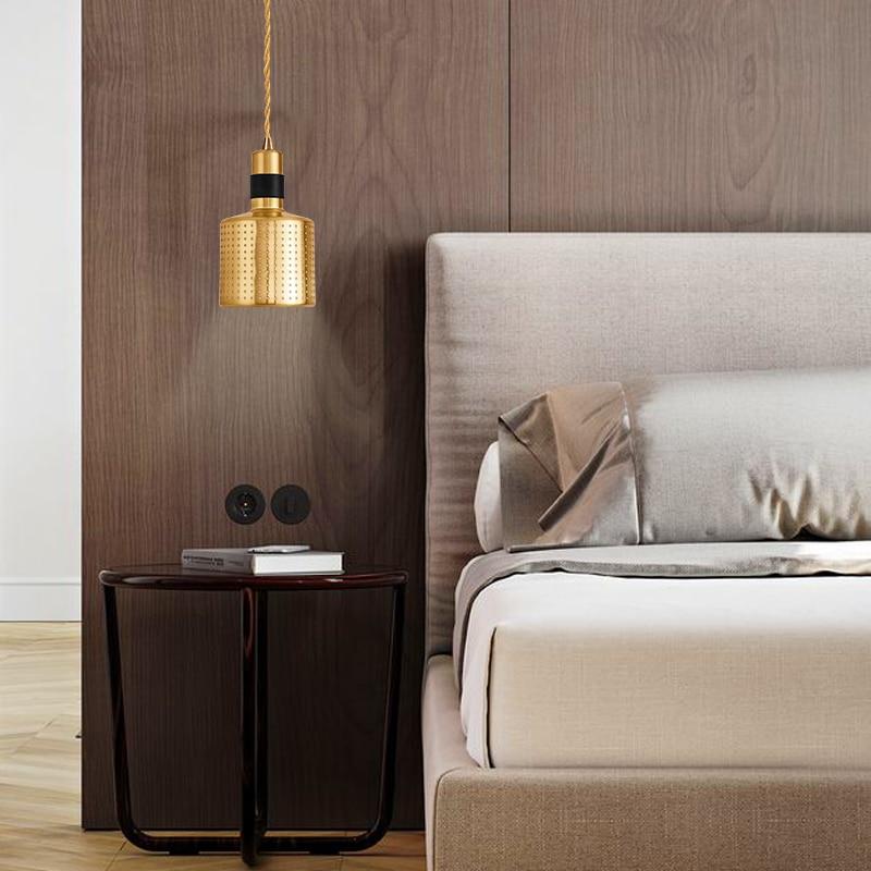 Modern Pendant Lights E27 LED Lamp Single Dining light Gold Bar lamps Pendant Lamp Lighting For living Room bedroomModern Pendant Lights E27 LED Lamp Single Dining light Gold Bar lamps Pendant Lamp Lighting For living Room bedroom