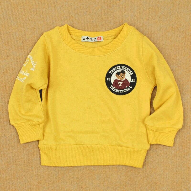 Clothing loop pile cotton pullover sweatshirt infant baby long-sleeve cotton shirt 100% basic t-shirt bear