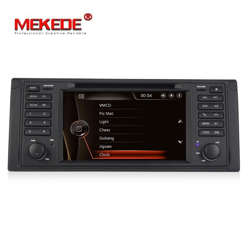 Livraison gratuite! Lecteur stéréo de voiture de Navigation gps radio de voiture MEKEDE windows ce 6.0 pour BMW série 5 E39 X5 E53 USB IPOD RDS BT FM