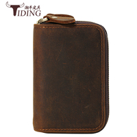 man key wallets cow leater 2017 new fashion men brand vintage brown genuine leather small key wallet male wallet bags for key