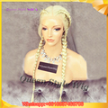 New Highheal Braid Wig Synthetic Blonde Braided Lace Front Wig Box Braided Hair Lace Front Wigs for Black White/ Chocolate Women