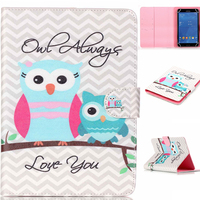 High Quality Fashion Design Owl Cartoon PU Leather Stand Cover Case Universal 7 Inch Tablet Case