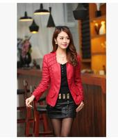 2018 Womens New Short Section Slim Pu Leather Jackets Short Section Leather Coats Female Motorcycle Leather