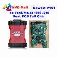 Mais novo V101 Chip Full VCM 2 OBD2 Diagnostic Scanner Para A Gasolina/Diesel Carros para Mazda/Ford VCM2 IDS VCM Ferramenta de Verificação II Pós Livre