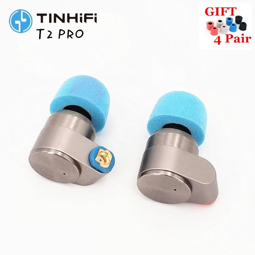 TIN Audio T2 PRO earphones Hifi Metal Earphones in ear Double Dynamic Stereo Earphone Bass DJ MMCX Detachable  T3 T2 P1 AS10 F3-in Earphones from Consumer Electronics    1