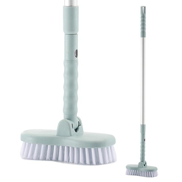 Household Necessities Toilet Long Handled Adjule Floor Brush Bathroom Tub Wall Crevice Cleaning