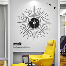 European clock Creative metal wall clock Round home decoration Mute clock Living room wall decoration stickers deasin 2018 original woodpecker dental led light ultrasonic piezo scaler handpiece fit for dte satelec scaling tips hd 7l