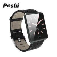 Bluetooth Smart Watch Men Sport Color Screen Touch Smart Wristband Leather Waterproof Heart Rate Digital Smart Watch Women reloj