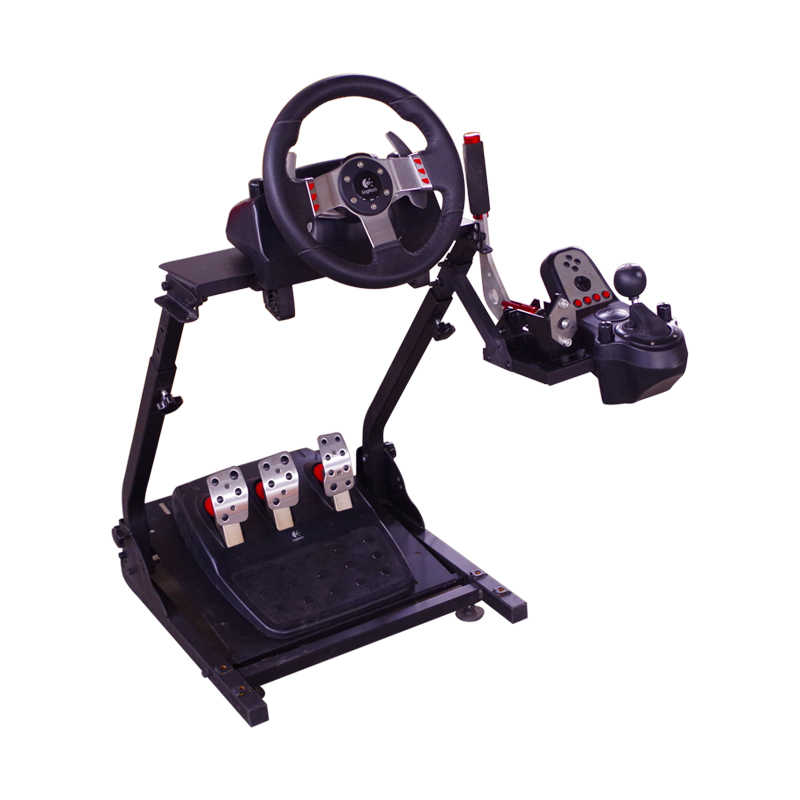 35b38e86090 ... Racing Steering Wheel Stand for PC USB Handbrake and Logitech G25/G27/G29  and ...