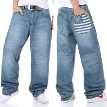Plus size 34 46 hip 145cm 2014 new plus size hip hop jeans loose jeans wide