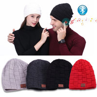Wireless Bluetooth 4.1 Headphone Music Player Beanie Knit Cap Winter Hats Multifunction with Stereo Speakers Wireless Microphone