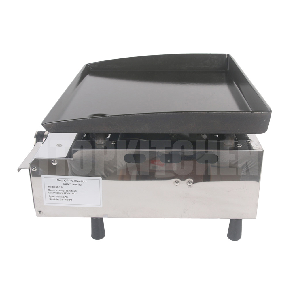 Itop Gas BBQ Plancha 1 Burner BBQ Grill Stainless Steel Griddle Steak Meat Cooking Plate Outdoor Barbecue Supplies