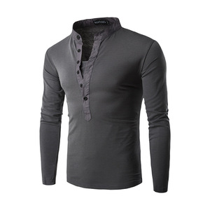 Image 3 - חדש מגמת שחור פולו חולצת גברים פולו Homme 2016 סתיו האופנה Mens Slim Fit ארוך שרוול הנלי חולצה מזדמן כותנה polos Xxl