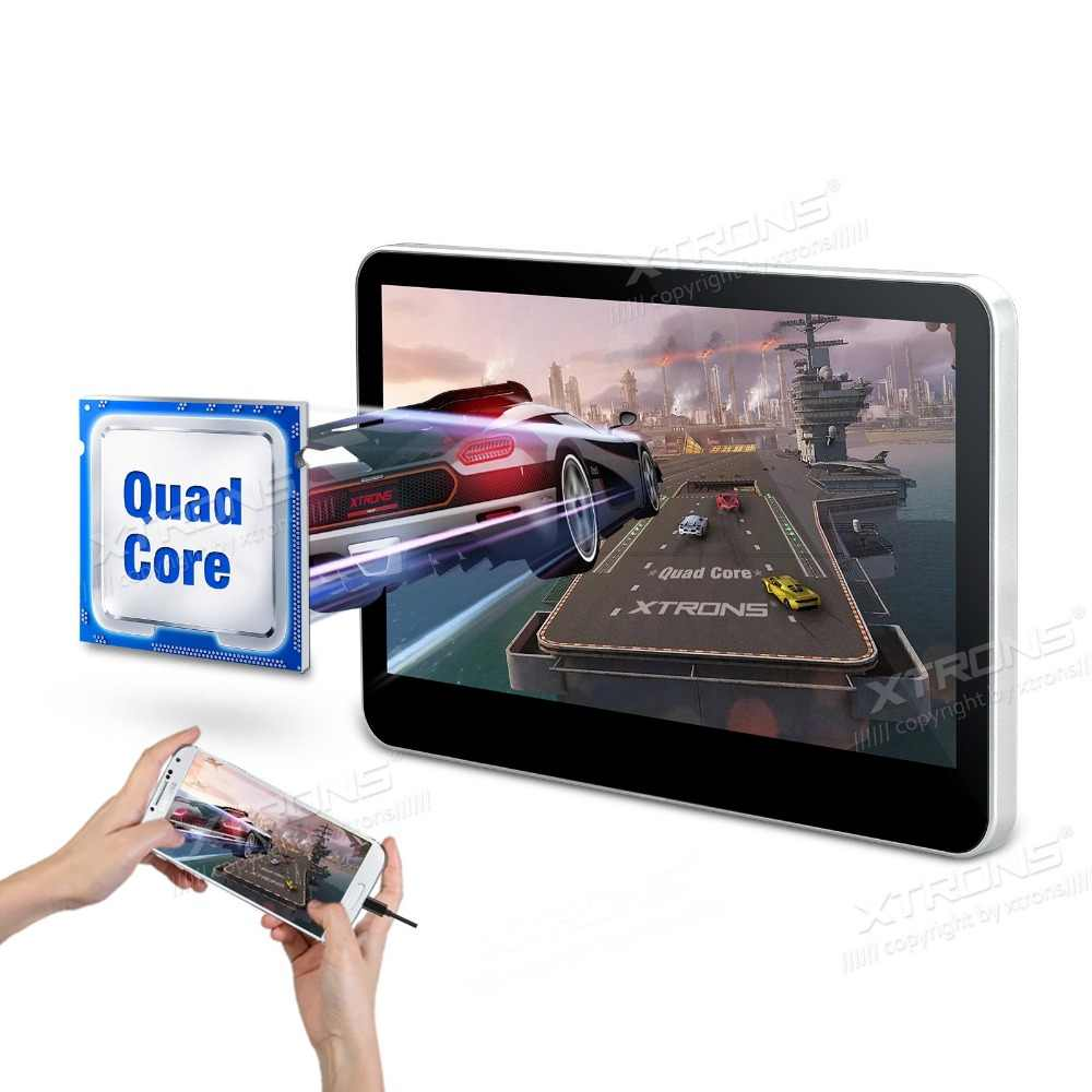 """10.1 """"Quad Core Android 5.1 OS Capacitive Touch Screen Mobil Headrest DVD Headrest Mobil Monitor DVD dengan buit-in HDMI Port"""