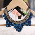 Beautiful Crystal Fashion Jewelry Chokers Necklaces False Collares Girls, Length: Can adjusted False Collar Necklace Handmade