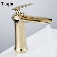 Basin Faucets Modern Faucet Bathroom Faucet Gold Finish Hot & Cold Brass Basin Sink Faucet Single Handle Taps