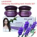 Nueva lavanda FEIQUE whitneing nutritiva anti peca crema facial 20g + 20g cuidado de la cara crema facial promoción loca