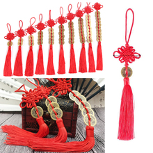 12pc vintage Tassel Chinese knot tassels Ancient coins Decor Pendant DIY Characteristics Gift Ornaments wholesale