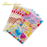 500pcs Lot Three PrincessTheme Party Gift Bag Party Decoration Plastic Candy Bag Loot Bag For Kids