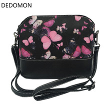 2017 Luxury Brand Lady Shoulder Bag Messenger Shell Shape Crossbody Handbag Waterproof Women Bag With Butterfly Dragonfly Floral