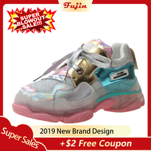 Fujin Womens Sneakers Shoes Women Mixed Colors Pink Girl Dropshipping Fashion Lace Up Rubber Causal Spring