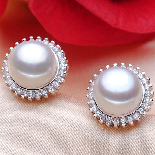ZHBORUINI Fashion Pearl Earrings Pearl For Women Classic Audrey Hepburn Freshwater pearl 925Sterling Silver Earrings Jewelry